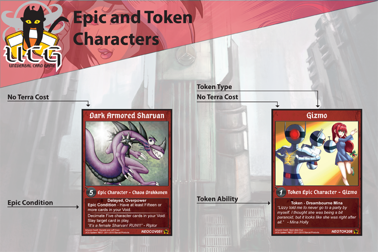 Card Layout Diagram   Epic and Tokens